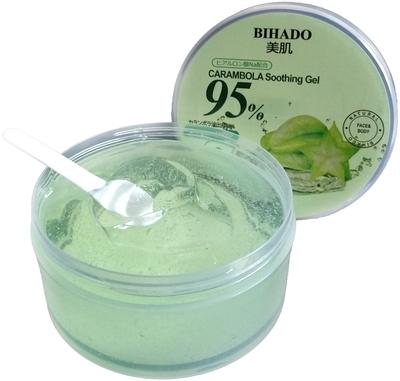 Bihado Carambola Soothing Gel : Увлажняющий гель для лица и тела, с экстрактом карамболы. 300 мл. (фото, вид 1)