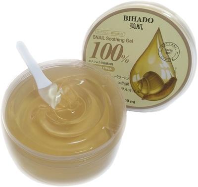 Bihado Snail Soothing Gel : Увлажняющий гель для лица и тела, с муцином улитки. 300 мл. (фото, вид 1)