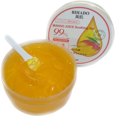Bihado Mango Juice Soothing Gel : Увлажняющий гель для лица и тела, с соком манго (99%). 300 мл. (фото, вид 1)