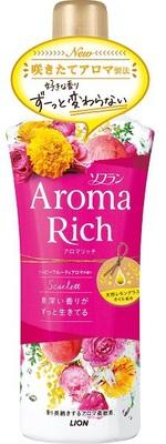 Lion Aroma Rich Scarlett : Кондиционер для белья c натуральными ароматическими маслами, 520 мл.