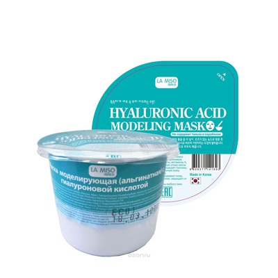 La Miso Hyaluronic Acid Modeling Mask : Альгинантная Маска с гиалуроновой кислотой. Увлажняющая. Для любого типа кожи. 28 гр.