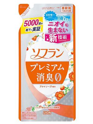 Lion Soflan : Кондиционер-ополаскиватель для белья с натуральным ароматом цветочного мыла (свежести). 450 мл.