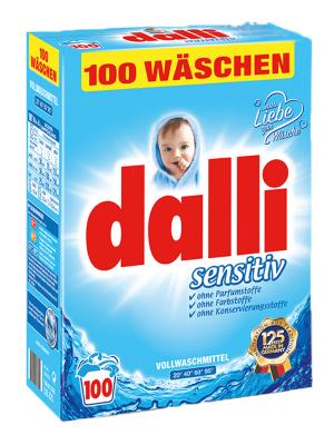 Dalli Sensitiv Sanft & Rein : Гипоаллергенный Стиральный Порошок для стирки белья грудных младенцев и людей с чувствительной кожей. 6,5 кг.