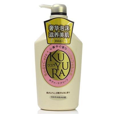 Shiseido Kuyura : Увлажняющее жидкое крем-мыло для тела, с цветочным ароматом, 550 мл.