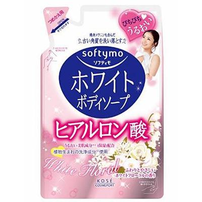 Kose Cosmeport Softymo : Увлажняющее жидкое мыло для тела с гиалуроновой кислотой, с цветочным ароматом, 420 мл.