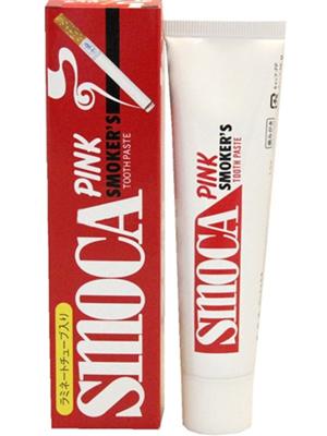 Smoca Pink : Зубная паста для курильщиков со вкусом мяты и зимней зелени. 120 гр.