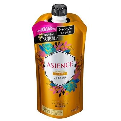 Kao Asience Inner Rich : Шампунь для восстановления ослабленных волос, с маслом арганы и камелии, с фруктово-цветочным ароматом, 340 мл.