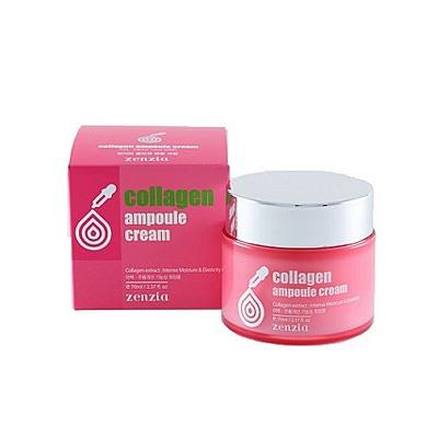 Zenzia Collagen Ampoule Cream : Крем для лица с коллагеном. 70 мл.