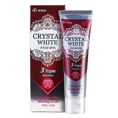 Mukunghwa Зубная паста «Crystal White» - Отбеливающая зубная паста с ароматом клюквы и мяты 110 гр.