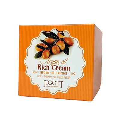 Jigott Насыщенный крем для лица с аргановым маслом, 70 мл.