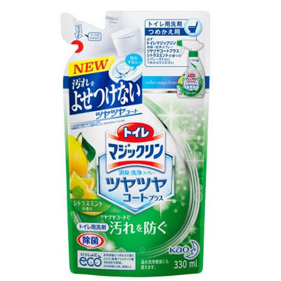 """Kao """"Magiclean Toilet"""" : Спрей-пенка для туалета с дезодорирующим эффектом с мятно-цитрусовым ароматом, 330 мл."""
