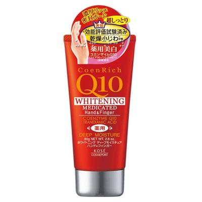 Kose Cosmeport «Coenrich Q10» : Интенсивно увлажняющий крем для рук и ногтей с коэнзимом Q10, 80 г.