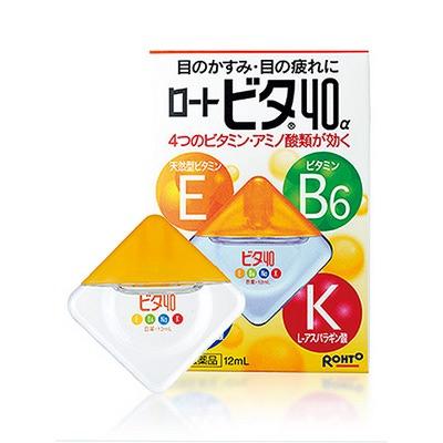 Rohto Vita 40 : Капли для глаз с аминокислотами и витаминами Е, В6, 12 мл.