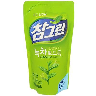 CJ Lion Chamgreen : Средство для мытья посуды, овощей и фруктов. Зеленый чай. 800 мл.