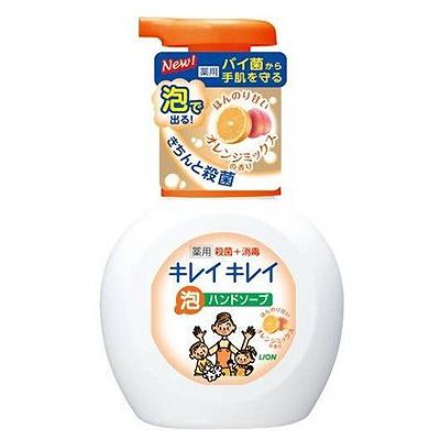 """Lion """"KireiKirei"""" : Фруктовый микс"""" Жидкое мыло-пенка для рук для детей и взрослых с антибактериальным эффектом, 250 мл."""