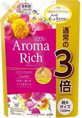 Lion Aroma Rich Scarlett : Кондиционер для белья c натуральными ароматическими маслами, 1200 мл.