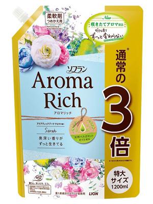 Lion Aroma Rich Sarah : Кондиционер для белья с ароматом цветов и груши, 1200 мл.