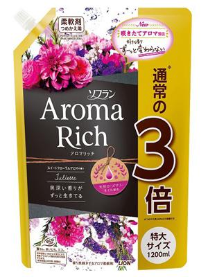 Lion Aroma Rich Juliette : Кондиционер для белья c натуральными ароматическими маслами, 1200 мл.