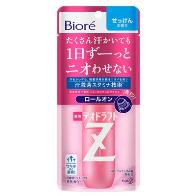 Kao «Biore Deodorant Z» : Роликовый дезодорант-антиперспирант с антибактериальным эффектом, с ароматом свежести, 40 мл.