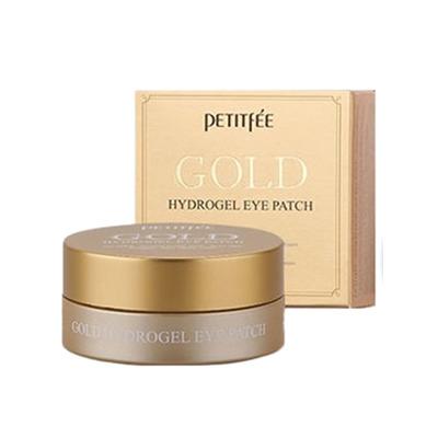 Petitfee 24K Gold Hydrogel Eye Patch : Гидрогелевые патчи для области вокруг глаз с 24-каратным коллоидным золотом, 60 шт.