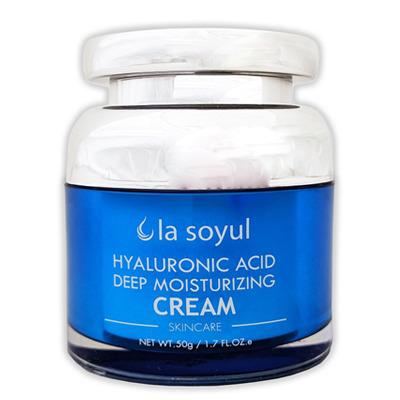 La Soyul Hyaluronic Acid Deep Moisturizing Cream : Крем с гиалуроновой кислотой для глубокого увлажнения кожи. 50 гр.