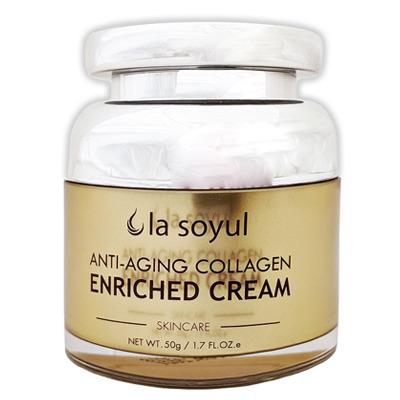 La Soyul Premium Anti-Aging Collagen Enriched Cream : Антивозрастной крем обогащенный коллагеном. 50 гр.