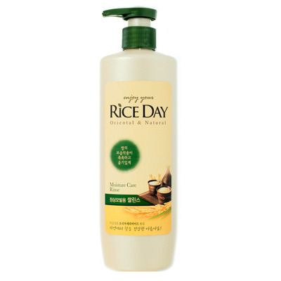CJ Lion Rice Day : Кондиционер для нормальных волос, увлажняющий, 550 мл.