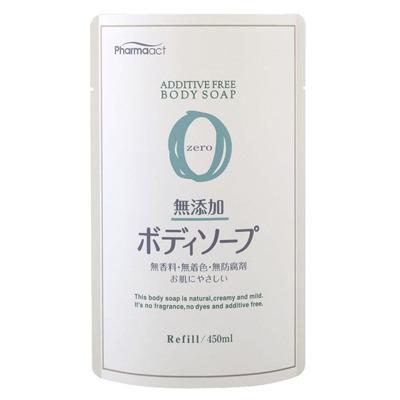 Cosme Station Pharmaact Mutenka Zero : Жидкое мыло для тела без добавок, для чувствительной кожи, сменная упаковка, 450 мл.