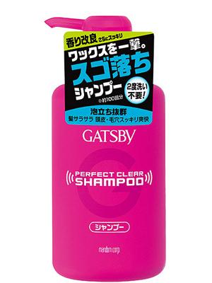 Mandom Gatsby Perfect Clear : Мужской шампунь для экстрасильного очищения волос и кожи головы с охлаждающим эффектом против перхоти, 400 мл.