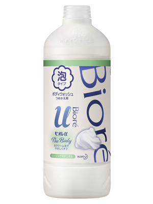 "Kao Biore U Foaming Body Wash Pure Savon : Пенка для душа ""Целебные травы"", 450 мл. (запасной блок)"