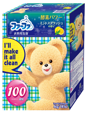 Nissan Fa-Fa : Концентрированный стиральный порошок с отбеливающим эффектом «Морозная свежесть» (прохладный аромат мяты и лимона) 4 кг.