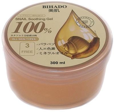 Bihado Snail Soothing Gel : Увлажняющий гель для лица и тела, с муцином улитки. 300 мл. (фото)