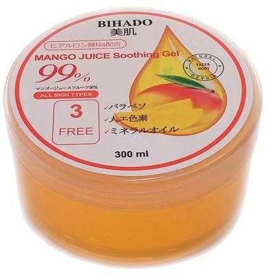 Bihado Mango Juice Soothing Gel : Увлажняющий гель для лица и тела, с соком манго (99%). 300 мл. (фото)