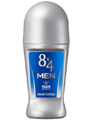 Kao «8x4 Men Roll On Power Protect» : Роликовый дезодорант-антиперспирантдля мужчин, с ароматом цитрусовых. 60 мл.
