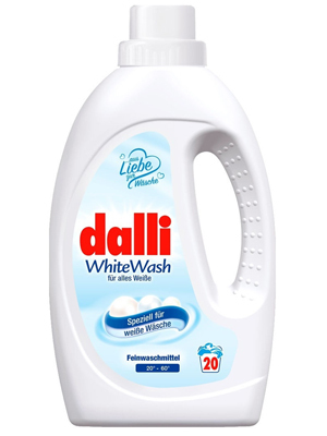 Dalli White Wash : Универсальное концентрированное жидкое средство для стирки белого, светлого и тонкого белья, 1,1 л.
