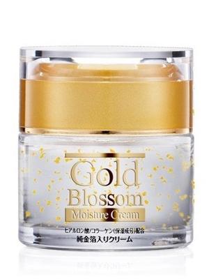 """Squeeze """"Gold Blossom"""" : Увлажняющий крем для лица с золотом, гиалуроновой кислотой и коллагеном, банка, 50 гр."""