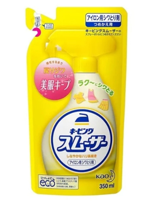 """Kao """"Keeping Smoother"""" : Спрей для глажки белья, со свежим ароматом трав, сменная упаковка, 350 мл."""