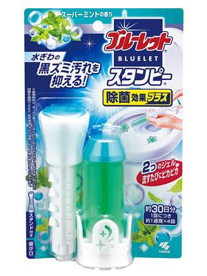 Kobayashi Bluelet Stampy : Очищающий и дезодорирующий гель для унитаза, с ароматом мяты, 28 гр.
