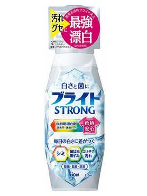 """Lion """"Bright Strong - Супер Яркость"""" : Гель-отбеливатель кислородный для стойких загрязнений, с антибактериальным эффектом, 510 мл."""