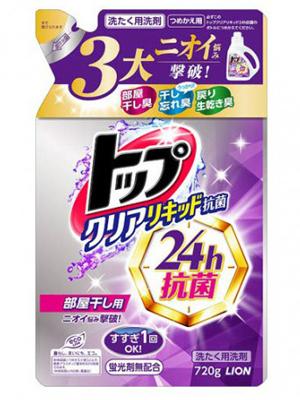 Lion Top Clear Liquid Antibacterial : Жидкое средство для стирки белья с антибактериальным эффектом. 720 гр.