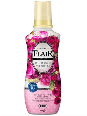 """Kao """"Flare Floral & Sweet"""" Кондиционер-смягчитель для белья со свежим цветочным ароматом, 570 мл."""