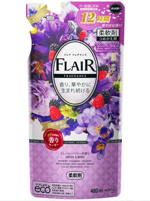 """Kao """"Flare Fragrance Dressy & Berry"""" : Кондиционер-смягчитель для белья с ароматом цветов и ягод 480 мл."""