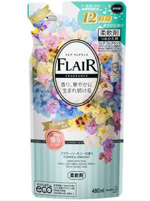 """Kao """"Flair Fragrance Flower & Harmony"""" : Кондиционер-смягчитель для белья с ароматом чистой цветочной гармонии 480 мл."""