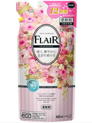 """Kao """"Flaire Fragrance Gentle & Bouquet"""" : Кондиционер-смягчитель для белья с нежным букетным ароматом 480 мл."""