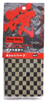 O:he Mono Body Nylon Towel Hard Plaid : Мочалка для тела жесткая, размер 28х100 см.