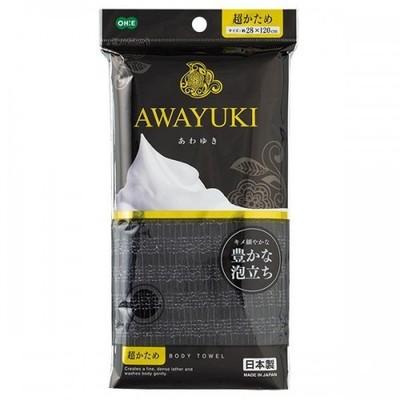 """O:he Awayuki : Массажная мочалка """"Увлажняющая пена"""", средней жесткости, серая, 28x100 см."""