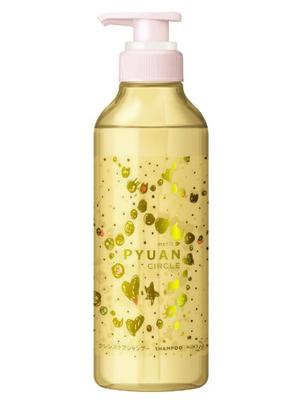 """Kao Merit Pyuan """"Circle"""" : Шампунь для волос с ароматом персика и сливы, 425мл."""