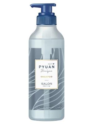 """Kao Merit Pyuan """"Unique"""" : Шампунь для волос с ароматом лилии и мыла, 425мл."""