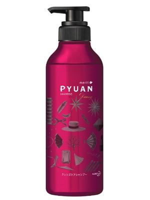 """Kao Merit Pyuan """"Daring"""" : Шампунь для волос с ароматом розы и граната, 425мл."""