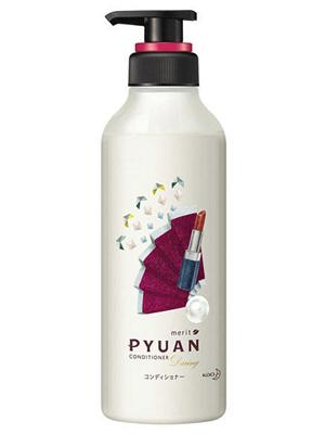 """Kao Merit Pyuan """"Daring"""" : Кондиционер для волос с ароматом розы и граната, 425мл."""